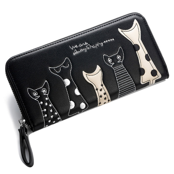 Alley Cats Zippered Wallet Colors