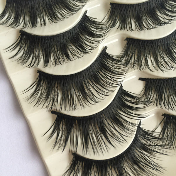 Set of 10 Pieces False Eyelashes Thick