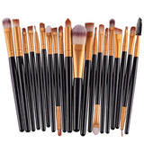 Set of 20 Soft Makeup Brushes