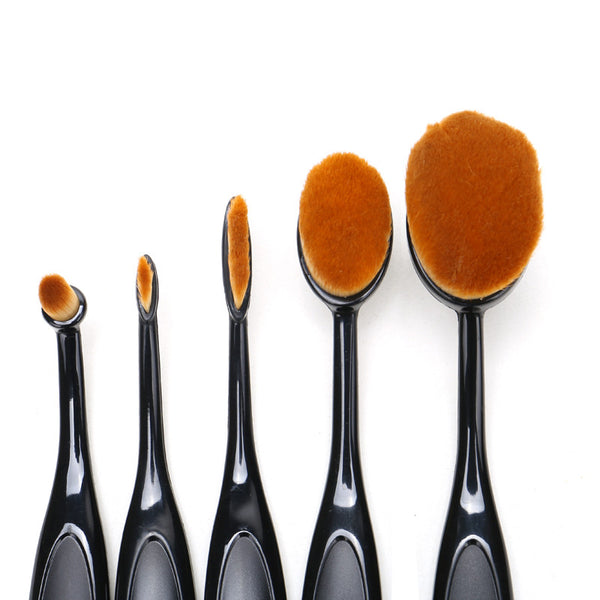Set of 5 Makeup Foundation Brushes