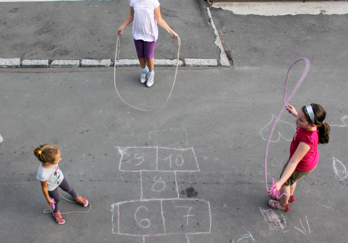 Playground Activities - hopscotch, skipping rope