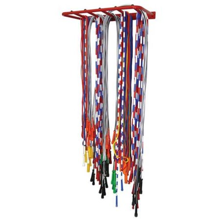 Wall Mounted Jump Rope Rack - Holds 100 Ropes