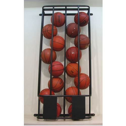Stackmaster Double Basketball and Volleyball Wall Storage Rack