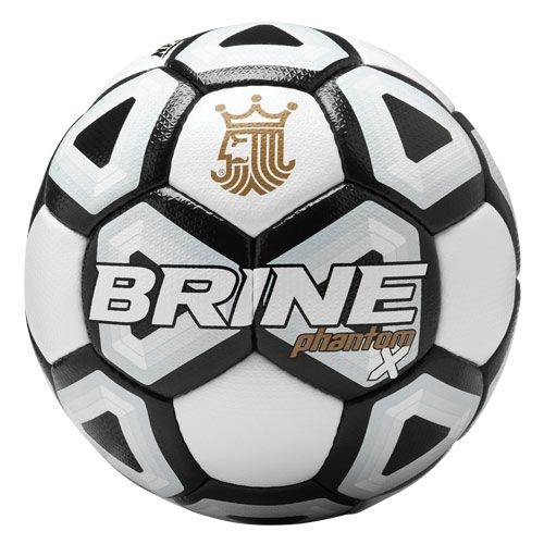 Brine Phantom X Soccer Ball Size 5 Black - NFHS Approved