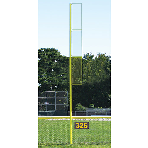 Semi Permanent Collegiate 20' Baseball/Softball Foul Pole - Sold in Pairs (2)