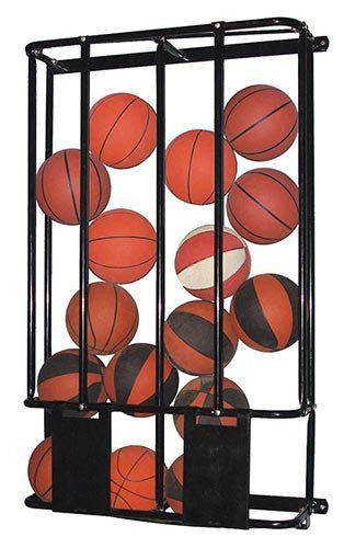 Stackmaster Double Basketball and Volleyball Wall Storage Rack | PE Equipment & Games | Gear Up Sports