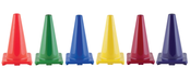 "Set of 6 18"" Heavy Duty Sports Cones 