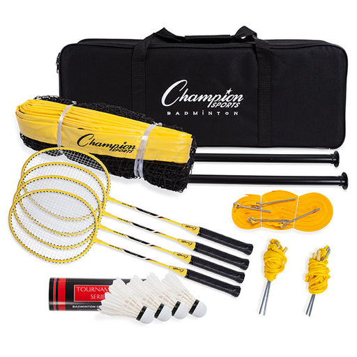 Champion Sports Deluxe Badminton Tournament Set | Carry Case Included