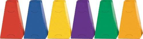 "16"" Multicolored Pyramid Cones (Set of 6 Colors) 