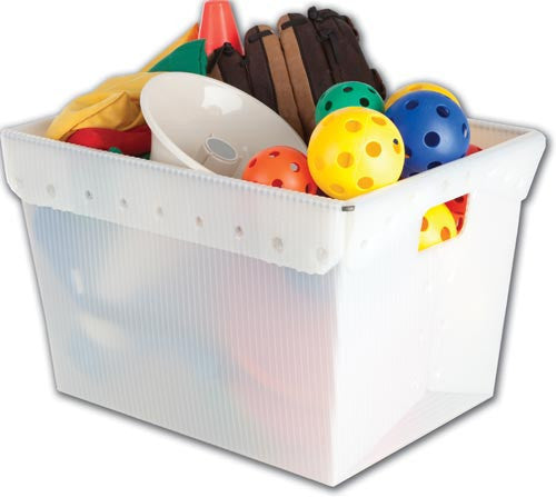 Small Plastic Nesting Storage Tote (Red, White, or Blue) | PE Equipment & Games | Gear Up Sports
