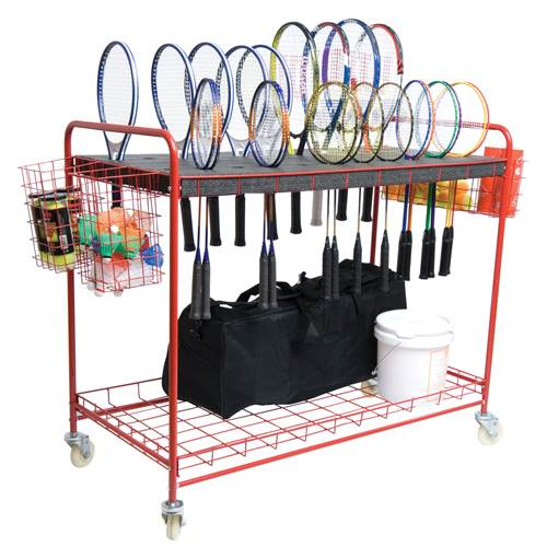 Deluxe Tennis Racquet Storage Cart