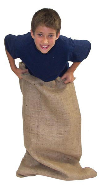 12 Pack of Burlap Potato Sacks (Medium or Large) | PE Equipment & Games | Gear Up Sports
