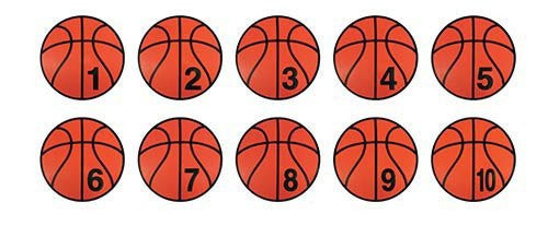 Numbered Poly Basketball Spots | PE Equipment & Games | Gear Up Sports
