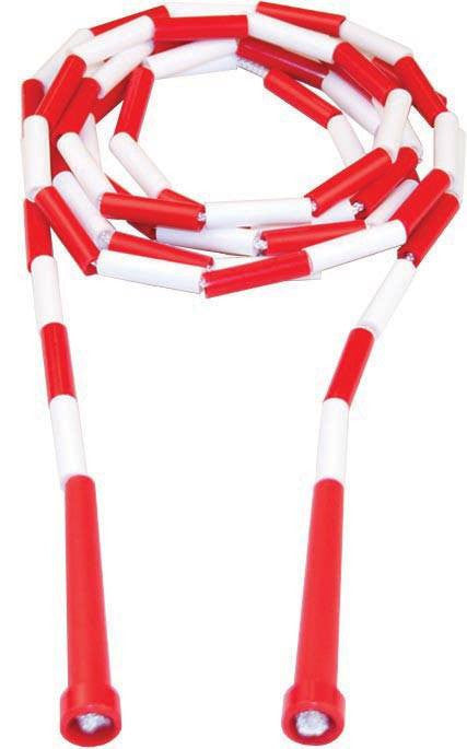 7' Kanga Deluxe Beaded Rope - Red Handle (Pack of 6) | PE Equipment & Games | Gear Up Sports