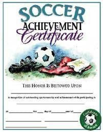 soccer certificates youth sports awards gear up sports