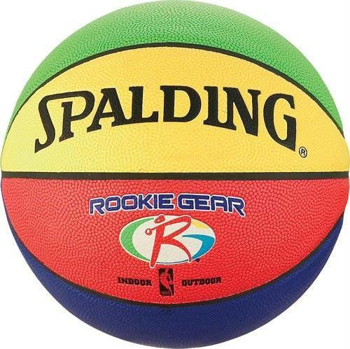 Multi-Colored Spalding Rookie Gear Composite Basketball | PE Equipment & Games | Gear Up Sports