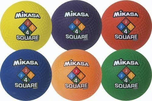 Mikasa Four-Square Ball (Set of 6) | PE Equipment & Games | Gear Up Sports