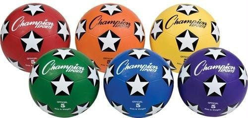 Colored Size 5 Soccer Balls (Set of 6) | PE Equipment & Games | Gear Up Sports