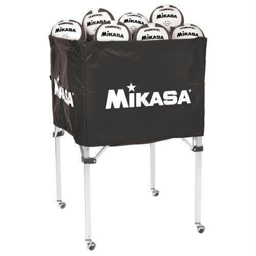 Mikasa Folding Ball Cart (Black, Blue, or Red) | PE Equipment & Games | Gear Up Sports