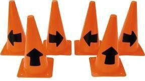 Arrow Cones - Set of 6 (2 each) - 12"