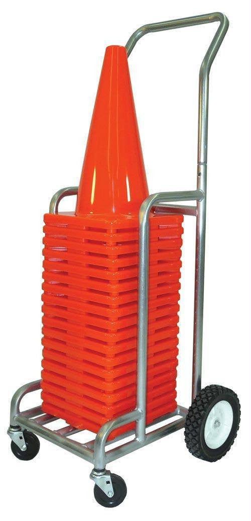 "Single EZ-Roll Cone Cart (Holds 18"" or 12"" Cones) 