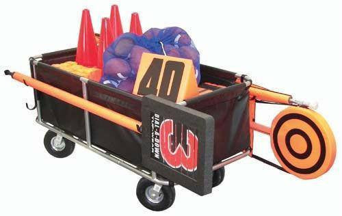 Heavy-Duty Football Equipment Cart | PE Equipment & Games | Gear Up Sports
