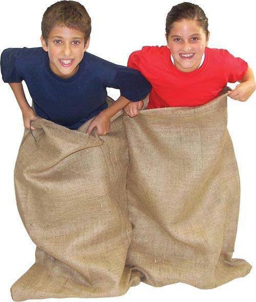Double Burlap Potato Sacks (Pack of 6) | PE Equipment & Games | Gear Up Sports