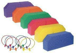 Rainbow Hoop Holders (Set of 6 Pairs) | PE Equipment & Games | Gear Up Sports