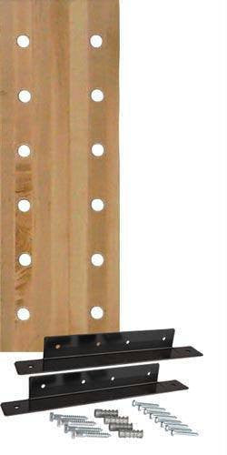 12-Hole Maple Pegboard w/ Mounting Bracket | PE Equipment & Games | Gear Up Sports
