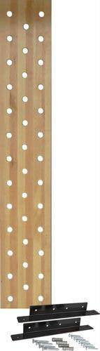 "38-Hole, 12"" Maple Pegboard (With Mounting Bracket) 