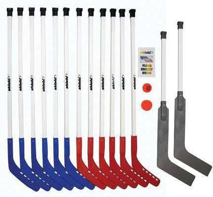 "42"" Shield Deluxe Hockey Set with 2 Goalie Sticks 