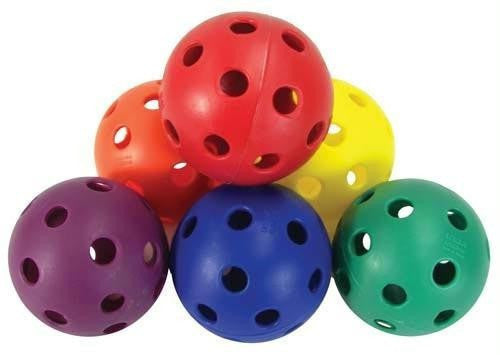 Rainbow Hockey Balls (Set of 24) | PE Equipment & Games | Gear Up Sports
