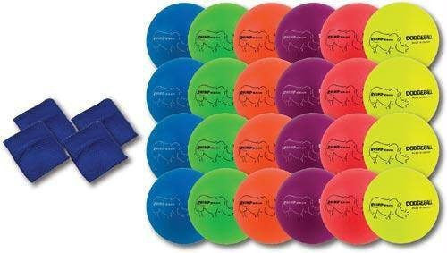Rhino Skin Neon Rainbow Dodgeball Set | PE Equipment & Games | Gear Up Sports