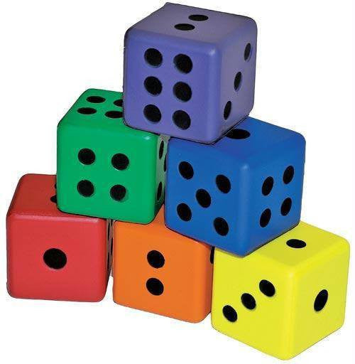 6-Sided Foam Dice | PE Equipment & Games | Gear Up Sports