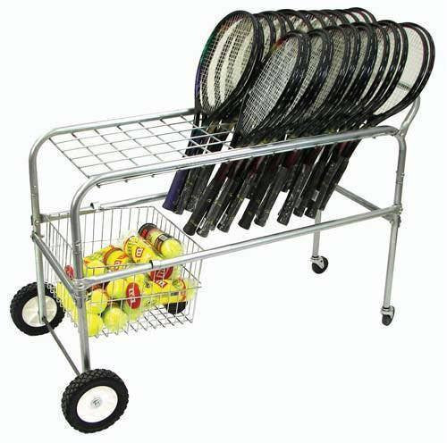 Deluxe Wheeled Racquet Cart | PE Equipment & Games | Gear Up Sports
