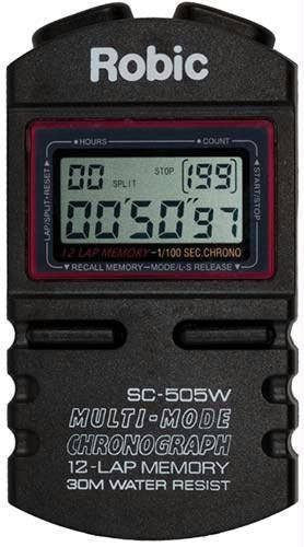 Robic SC505W 12 Memory Timer (Various Color Options) | PE Equipment & Games | Gear Up Sports