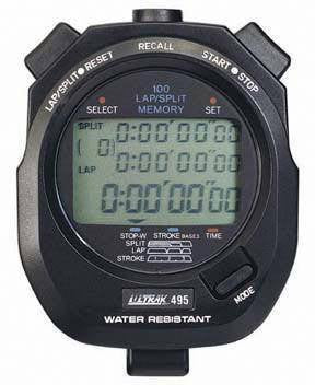 Ultrak 100 Memory Stopwatch (Black or Yellow) | PE Equipment & Games | Gear Up Sports