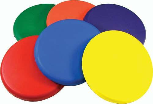 Set of 6 Deluxe Coated Foam Discs | PE Equipment & Games | Gear Up Sports