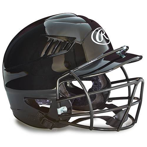 Rawlings Vented Batting Helmet Baseball with Facemask