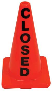 "18"" Plastic Message Cones - Closed"