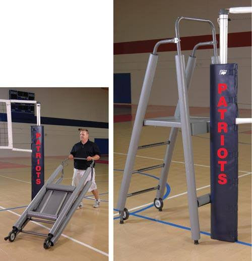 Folding Volleyball Official's Platform with Padding | PE Equipment & Games | Gear Up Sports