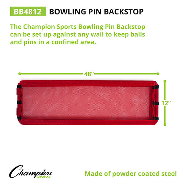 "Foldable Steel Bowling Pins Backstop - 48"" x 12"""