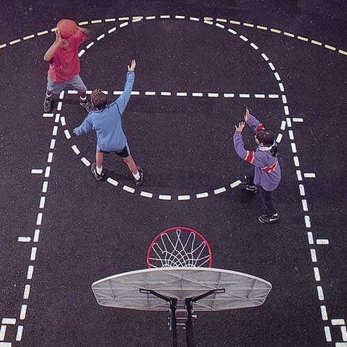 Basketball Court Stencil | Precision Cut | 21' x 13' Court Size