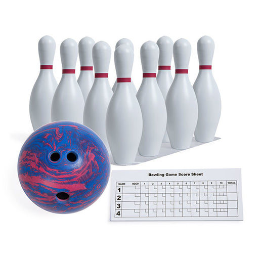 "Bowling Set with 15"" Pins & 5lb. Hollow Rubber Ball"
