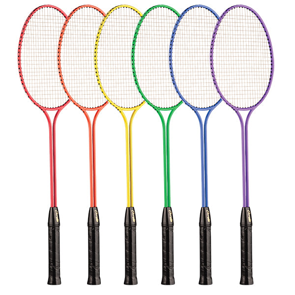 Tempered Steel Twin Shaft Badminton Racket Set - Nylon Strings