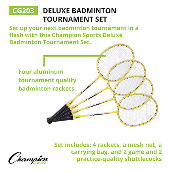 Champion Sports Deluxe Badminton Tournament Set CG 203