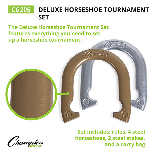 Deluxe Steel Horseshoe Tournament Set