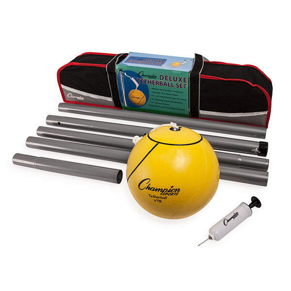 Deluxe Tether Ball Set | Official Size Ball, Pole and Carrying Bag Included