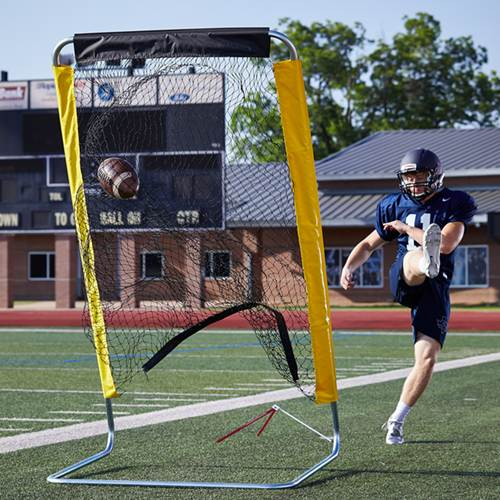 Pro Down Varsity Football Kicking Cage & Net 500x500