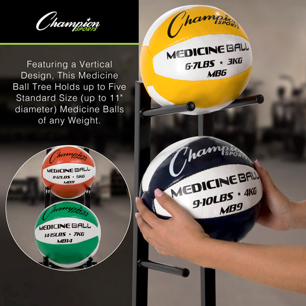 Medicine Ball Tree Rack - Single Column - Closeup
